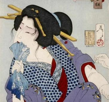 Color print from a woodblock by Tsukioka Yoshitoshi, 1888. This image is in the public domain in the U.S.